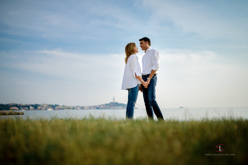Engagement photo reportage in Rovinj Croatia