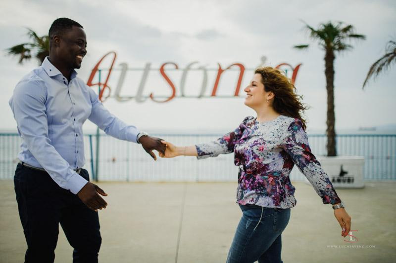 engagement at Ausonia beach Trieste by Luca Savino photographer