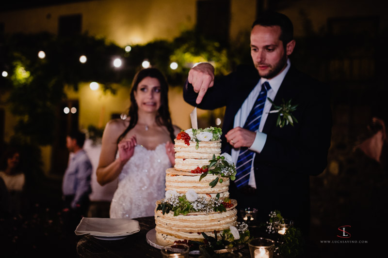 Wedding's cake photo Tuscany Italy