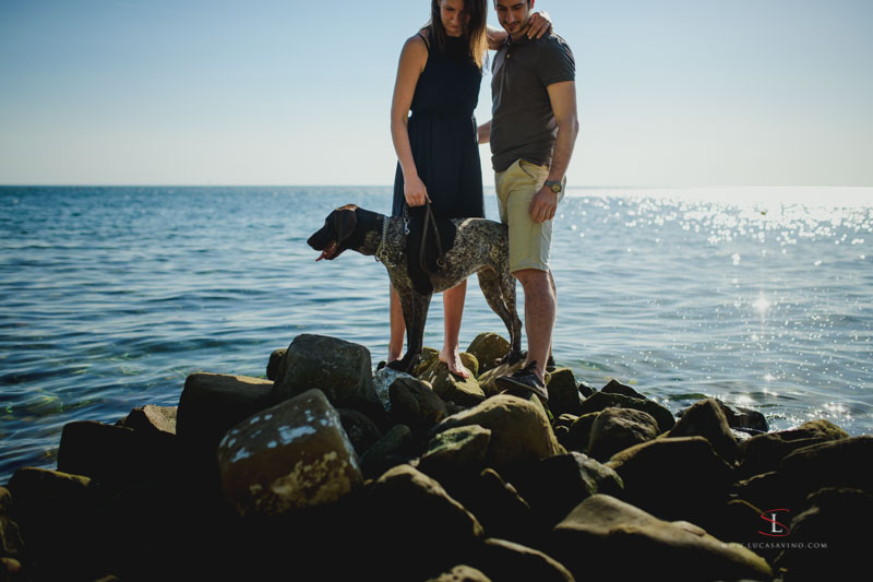 Engagement shooting on the beautiful seaside of Trieste
