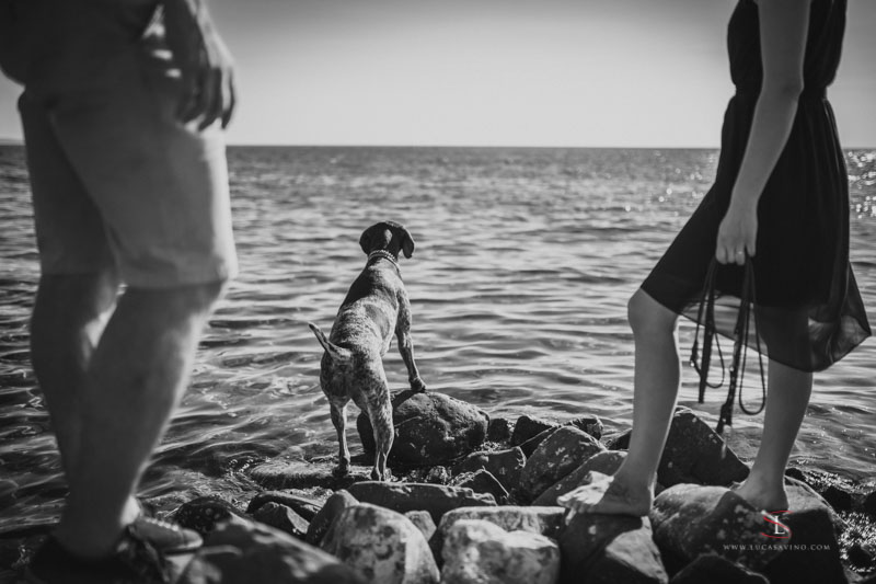 wedding reportage on Trieste seaside by Luca Savino